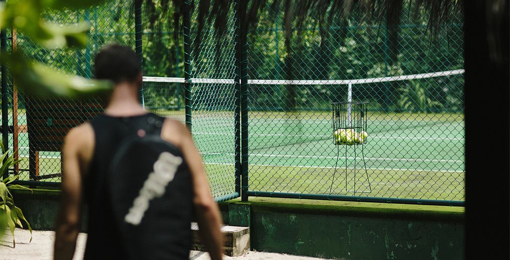 Work up a sweat on the tennis court