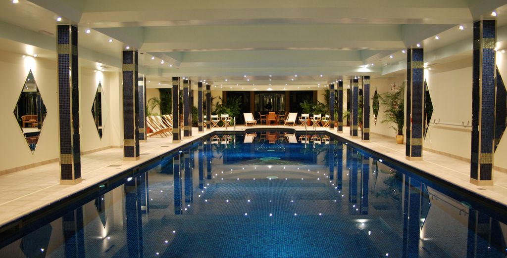 Take a dip in the inside pool