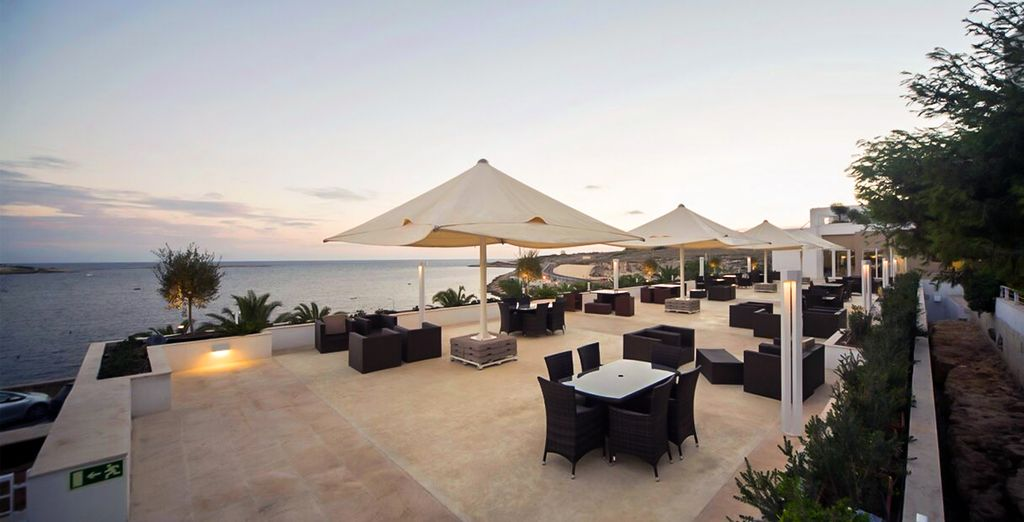 Later in the day, enjoy sundown drinks on the terrace