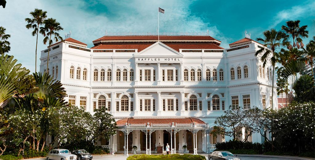 At the iconic Raffles Hotel