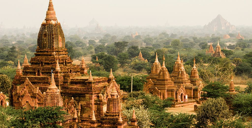 See the ancient temples of Bagan