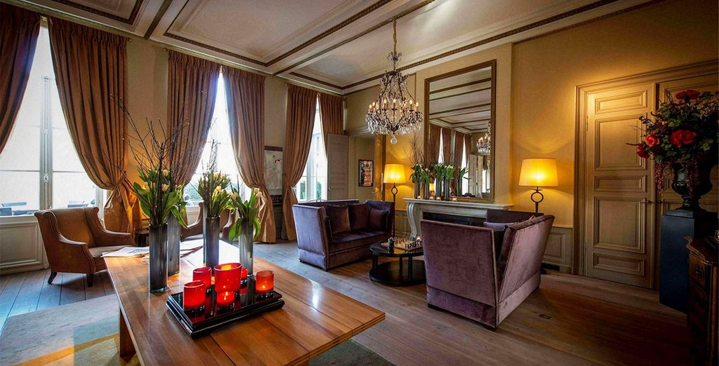 Admire elegant decor throughout