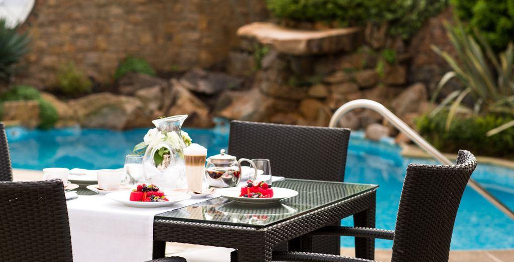 Relaxing pool side