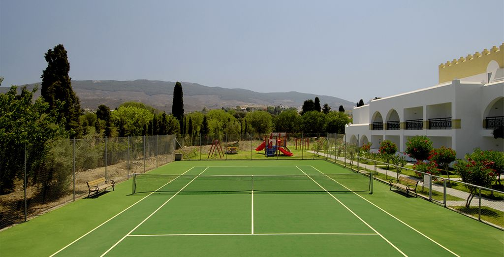 Or work up an appetite on the tennis courts