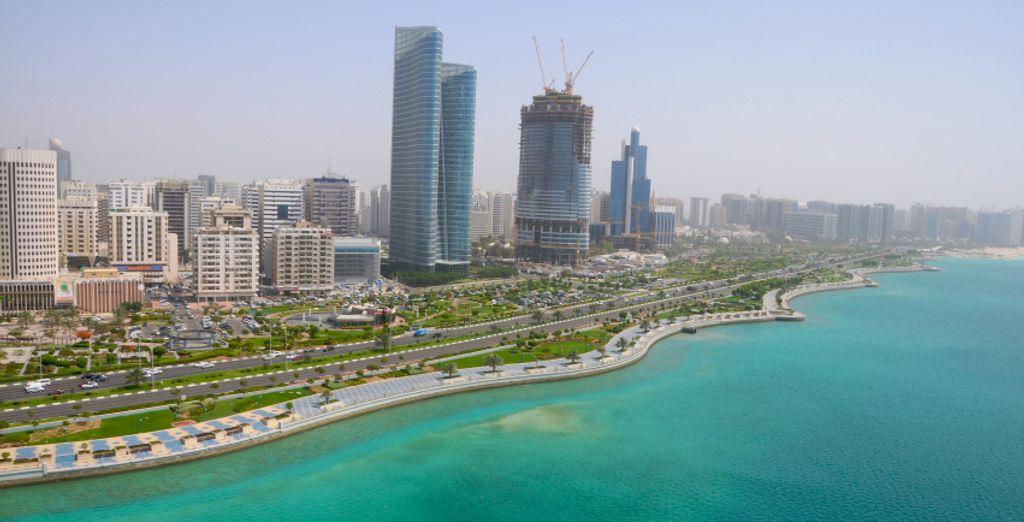 In glamorous Abu Dhabi