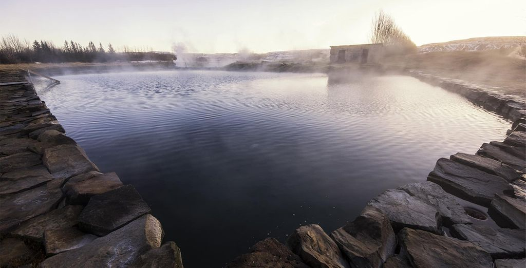 Bathe in a secret lagoon