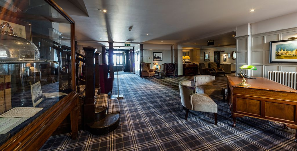 Enter this classic hotel
