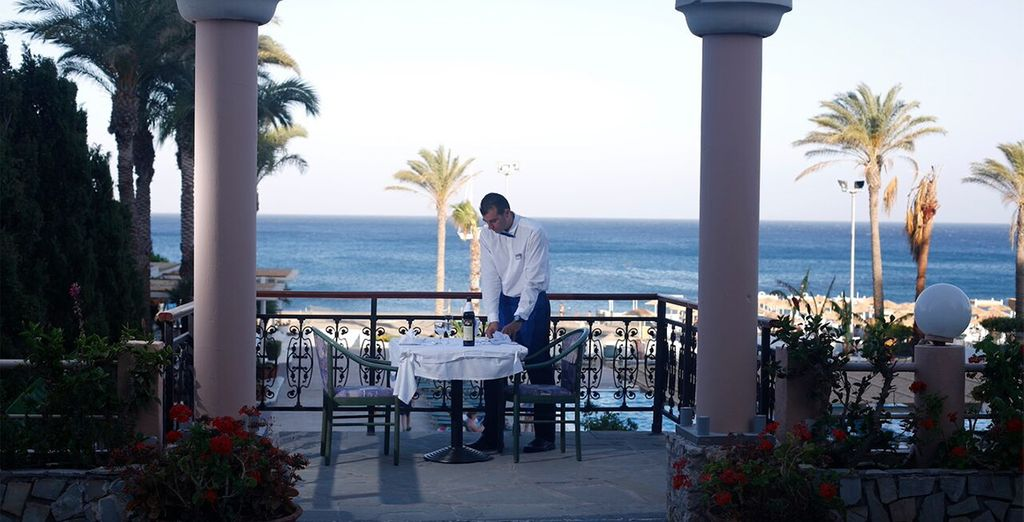 End your day with a romantic al fresco dinner