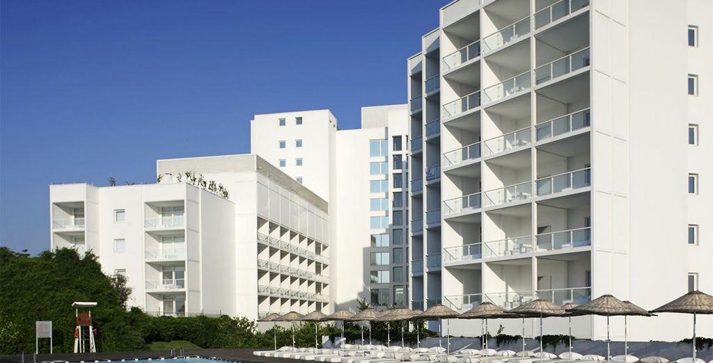 A disctinctly modern hotel