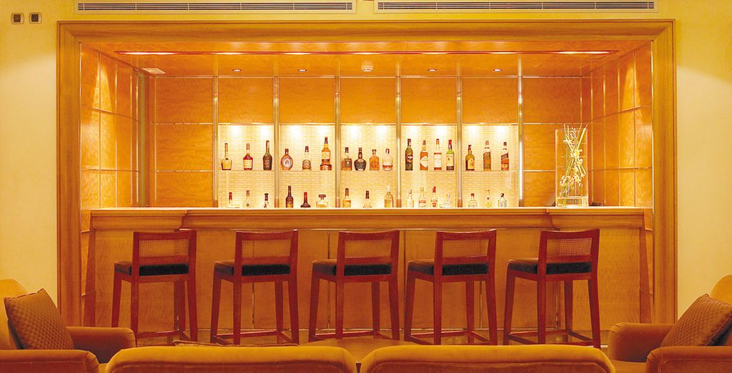 Order your favourite beverage in the chic and stylish bar