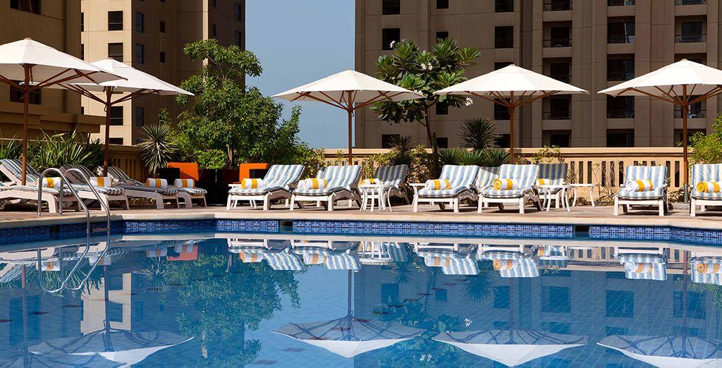 Soak up the Arabian heat by the pool