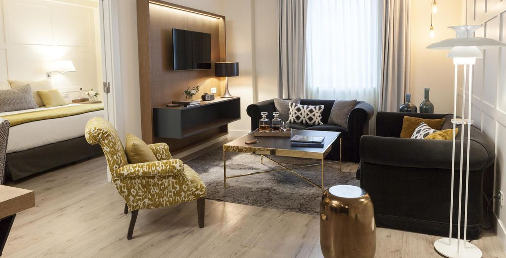 For the ultimate sophistication there's the hotel's spacious suites (pictured: Suite)