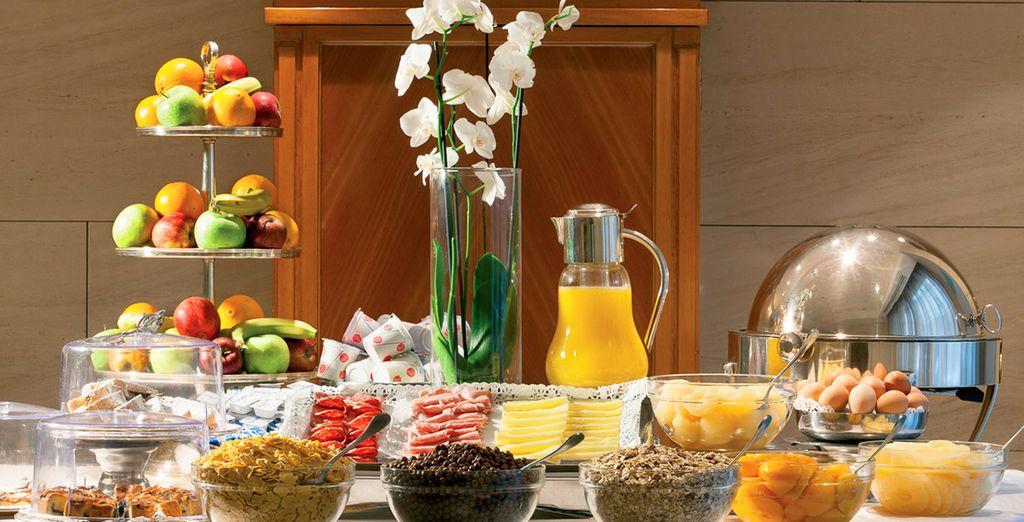 Fill up on a hearty breakfast buffet