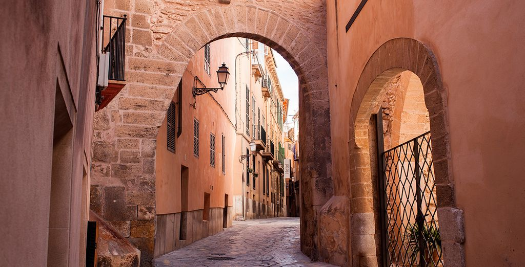 Stroll through its cobbled streets