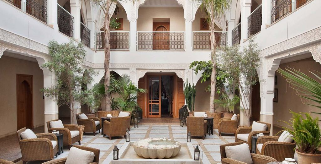 And artfully blends traditional Moroccan design...