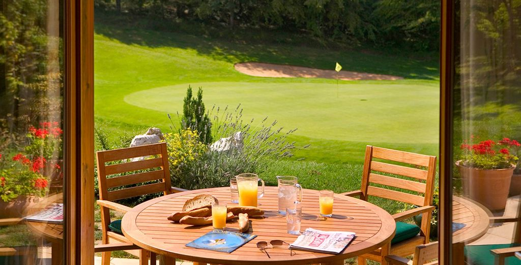 Breakfast on the terrace overlooking the golf course?