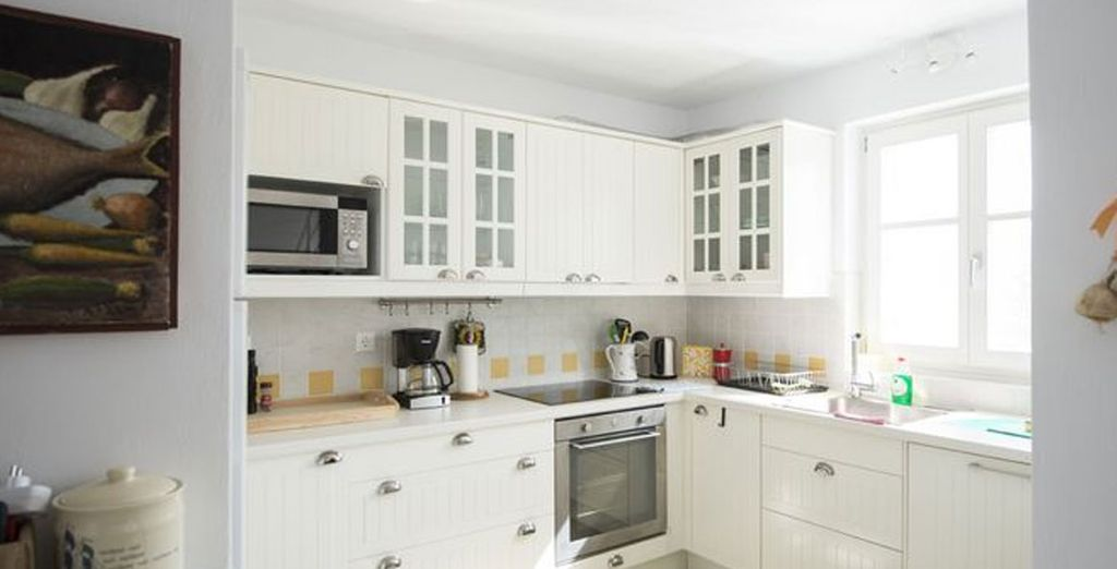 The spacious kitchen is ideal for fun cooking