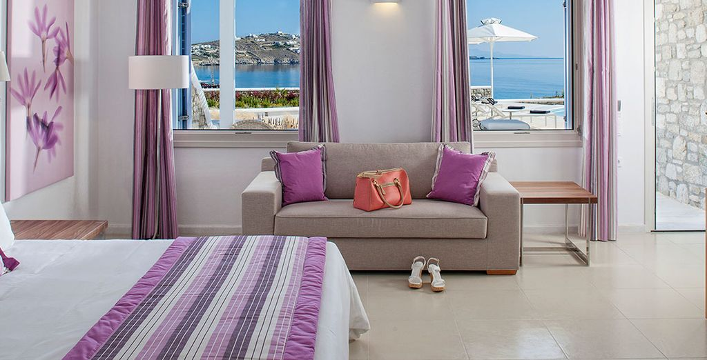 Or choose a a Deluxe Sea View Suite with Outdoor Jacuzzi for even more indulgnece