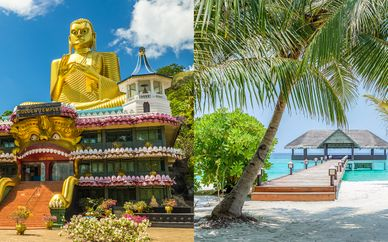 Tour Sri Lanka 5 notti + Palm Beach Island Resort & Spa 4* alle Maldive
