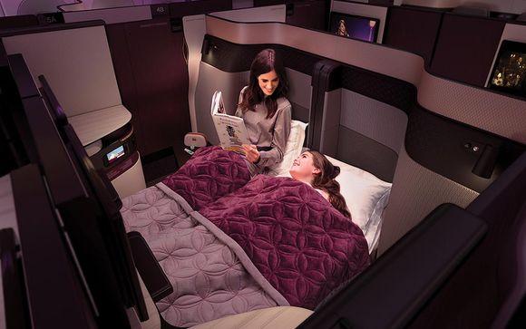 Gönnen Sie sich einen luxuriösen Flug mit Qatar Airways