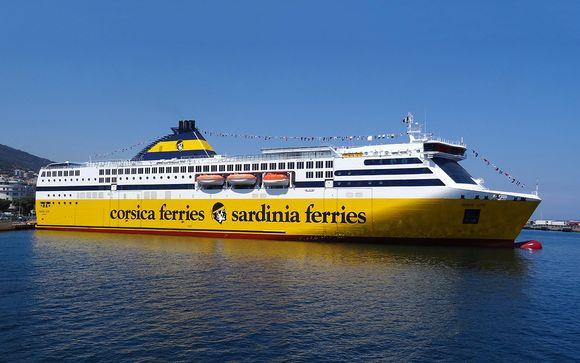 Ihre optionale Überfahrt mit Corsica Ferries