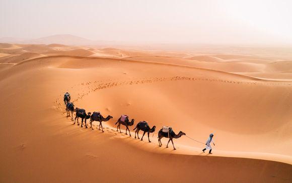 Circuito semi-privado por el Atlas, gargantas y el desierto