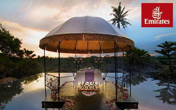 Exotismo en Ubud y playas paradisíacas y vuelos con Emirates