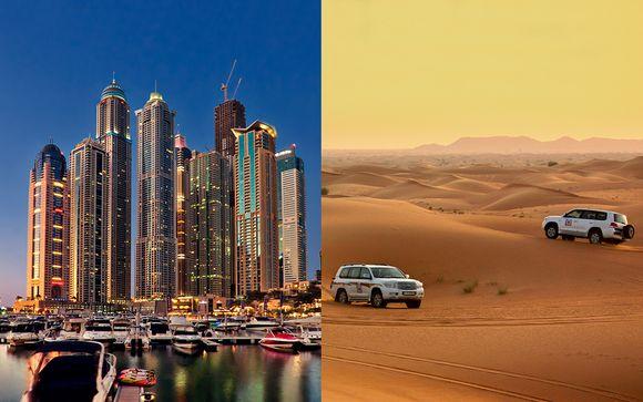 Lujo con safari por el desierto, crucero y vuelos