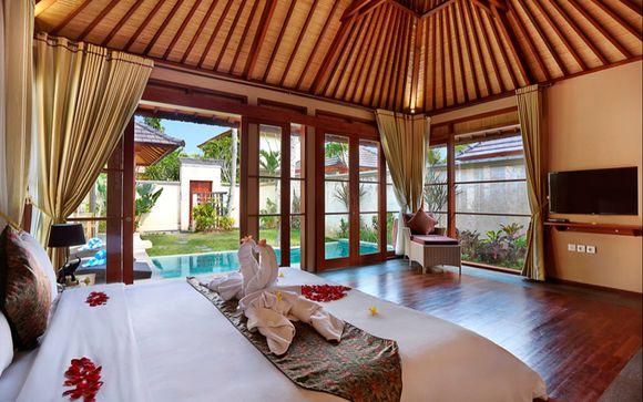 Villa con piscina de una habitación