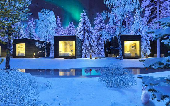 Expérience Finlandaise en hutte design panoramique