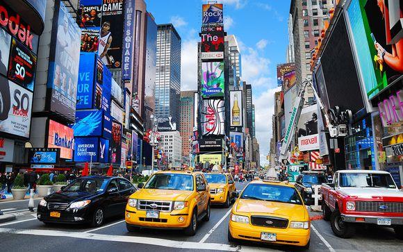 Photographie du Time Square, quartier de Manhattan à New york