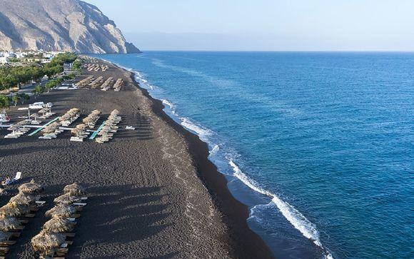 Vacances sur les plages de sable noir