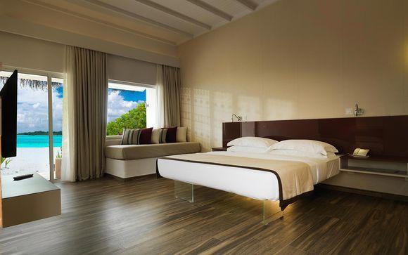 Hôtel de luxe 5 étoiles avec lit double tout confort et chambre spacieuse