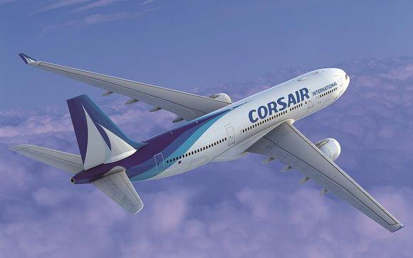 Envolez-vous en classe économique, Premium ou affaires avec Corsair
