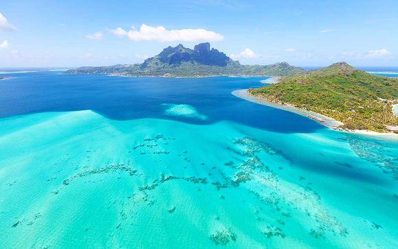 Une île, entre le ciel et l'eau...
