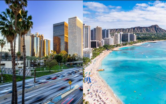 Combin� 4* Luxe Sunset Boulevard et Sheraton Waikiki