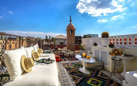 Incantevole riad con spa vicino a piazza Djemaa el-Fna