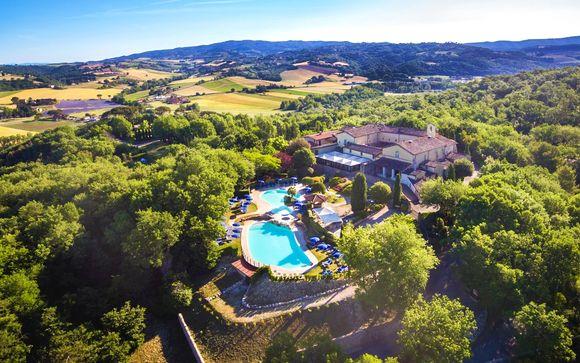 Mezza pensione e piscina 4* fra i panorami dell'Umbria