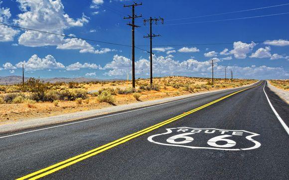 Sull'asfalto della Route 66 con noleggio auto incluso