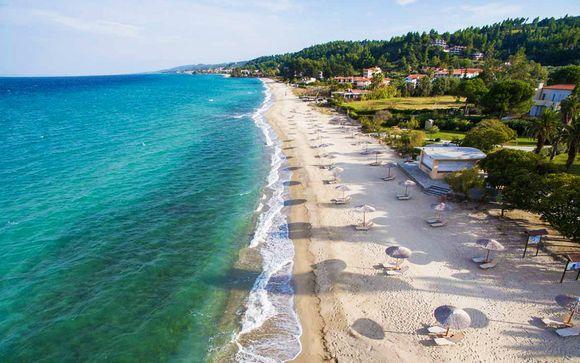 Lusso e comfort in 5* con spiaggia privata a Kriopigi