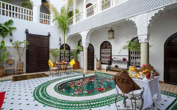 Intimate Riad with Traditional Moroccan Decor
