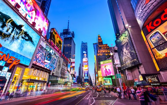 Neon Lights and Stylish Nights in Times Square