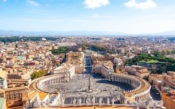 Vista panoramica sulla città eterna a due passi dal Vaticano